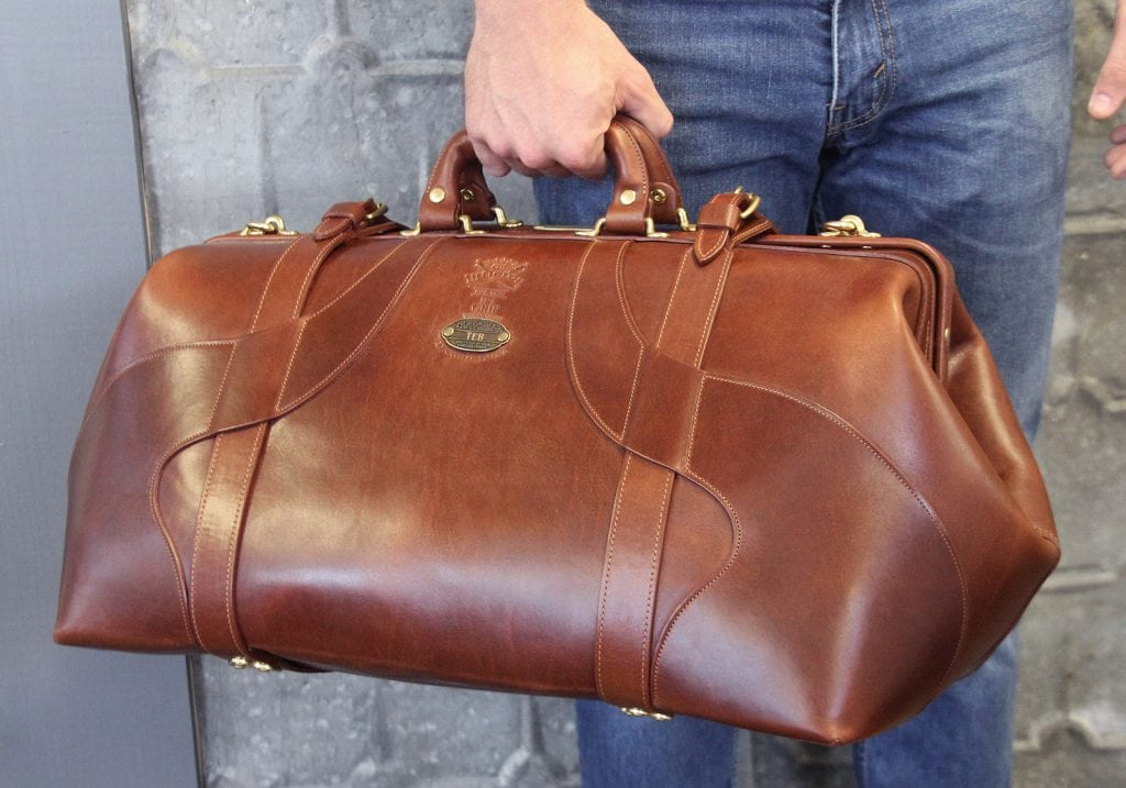 No. 5 Grip Travel Bag in Steer Hide