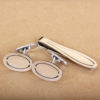 Vintage Cuff Link and Tie Bar Set – Sterling Silver By Georg Jensen