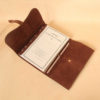 no9 brown american leather laced journal with notepad