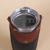 no 20 black brown leather rambler sleeve with yeti stainless steel cup