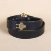 Best leather cinch belt black with brass wrapped in two back.