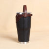 no30 vintage brown and black leather tumbler with strap